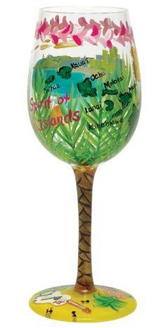 Hawaii Wine Glass by Lolita