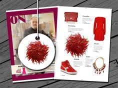 Esta vez en la revista ON nuestro tocado bordado enteramente de lentejuelas en forma de punta y rocalla.