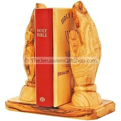 Praying Hands Bible Stand hand made from Olive Wood.