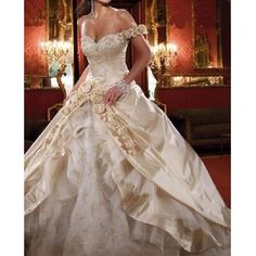 Princess+Ball+Gown+Wedding+Dresses | Gowns Style1600 Strapless Beaded Princess Wedding Dresses Ball Gowns ... #ballweddingdresses #ballbridaldress