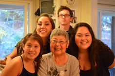 With my Grandma and my cousins