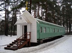Train car turned in church
