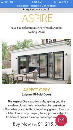 External Bifold Doors, Conservatory Extension, Folding Doors, Joinery, Modern Classic, Outdoor Decor, Home Decor, Style, Accordion Doors