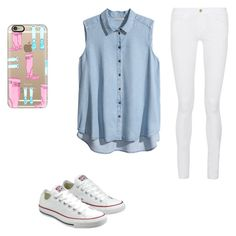 """""""Style"""" by hannahkennedy19 ❤ liked on Polyvore featuring Casetify, Frame, H&M and Converse"""