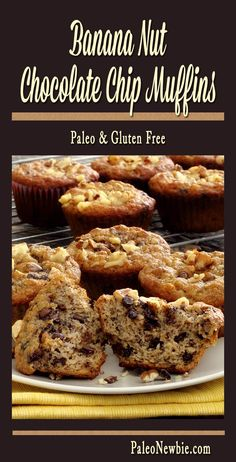 Light and fluffy muffins with a sweet banana flavor and partly-melted dark chocolate chips. Bite into one while it's still warm from the oven – amazing!