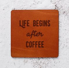 Coffee lovers Leather Coaster Housewarming gift Wedding