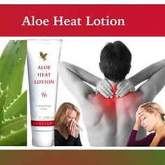 Aloe Heat Lotion Item #:064 Price per tube - 4 fl. oz. Stretch no further than to grab a tube of Aloe Heat Lotion. A rich, emollient lotion containing warming agents and Aloe, it's ideal for soothing stress and strain. 310002038793.fbo.foreverliving.com