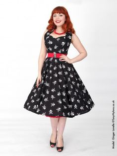 1950s Halterneck Pirate Dress from Vivien of Holloway