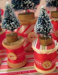Mini Christmas Tree Spools
