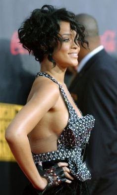 short hair!  this one! @Karen Jacot Jacot Jackson  My hair needs to have this poof in the back!  Let's do this Tuesday.