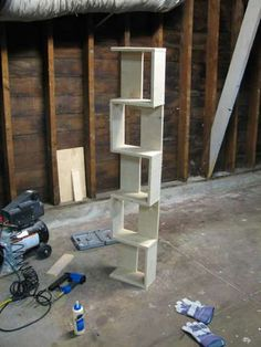 DIY bookcases - we might need some of these downstairs for boardgames... they seem like they'd be pretty easy to assemble, and you could vary the depth I'd bet...