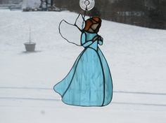 Stained Glass Angel by StainedGlassbyBetty on Etsy, $40.00