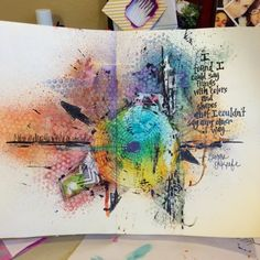 "The challenge for week 3 of The Documented Life Project 2015 is to use the color wheel. The prompt is a quote by Georgia O'Keefe: ""I found I could say things with color and shapes that…"