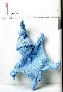 doudou lutin Knitting For Kids, Baby Knitting Patterns, Loom Knitting, Baby Patterns, Knitting Projects, Crochet Projects, Crochet Patterns, Knitted Dolls, Crochet Toys