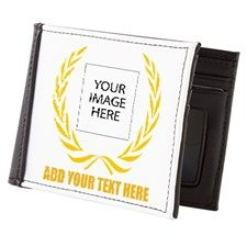 Personal Golden Laurel Wreath Mens Wallet