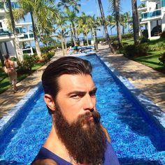 Dave Driskell - full thick long dark beard and mustache beards bearded man men mens' hairstyle hair cut groomed barber #beardsforever