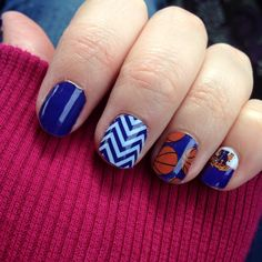 These are the perfect nails for any member of the BBN. Are your nails ready for March Madness? Find your UK nails here: amykimsue. Basketball Nails, Uk Basketball, Kentucky Basketball, Kentucky Wildcats, Spirit Finger, Uk Nails, Finding Yourself, Make It Yourself, Jamberry Nail Wraps