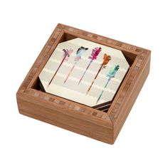 DENY Designs Iveta Abolina Feathered Arrows Coaster