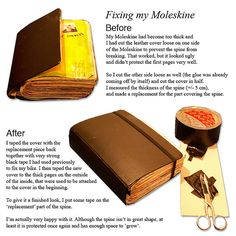 One idea to fix a Moleskine. I might need this in d future.