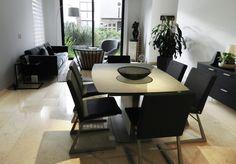Proyecto BoConcept Altavista Concepter: Fernanda Valadez  Mesa Milano en ceramica Silla Mariposa Deluxe Boconcept, Scandinavian, Conference Room, Mexico, Dining Room, Tv, Table, Inspiration, Furniture