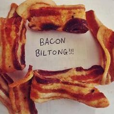 BILTONG & DROëWORS Jerky Recipes, Snack Recipes, Cooking Recipes, Keto Recipes, Home Made Bacon, South African Recipes, Africa Recipes, Popover Recipe, Beef Bacon