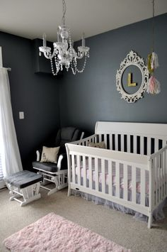 Project Nursery - Pink, Charcoal and Metallic Gold Nursery