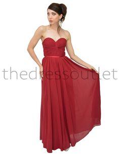 Beautiful Strapless Pleated Chiffon Bridesmaids Dress Prom Full Length Plus Size