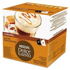 Nescafe Dolce Gusto Coffee Capsules Caramel Latte Macchiato 193 oz 16 per Box ** Click image to review more details. (This is an affiliate link and I receive a commission for the sales)