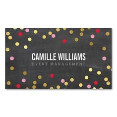 Event planning business card event planning pinterest event plain bold minimal confetti gold red chalkboard business card colourmoves
