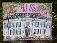 Phi Mu custom art on Etsy!