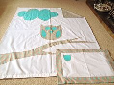 Owl baby duvet cover and oxford pillow set | Sewing | Appliqué