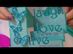 ▶ Side Step Card -Live Love Laugh - YouTube