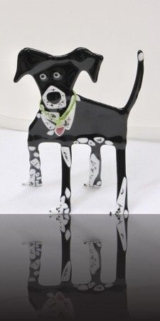 fused glass doggy