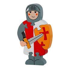 Lanka Kade red knight jigsaw puzzle - fair trade wooden toys
