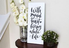 DIY Typography Sign | By Blooming Homestead for Silhouette America