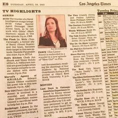 Thanks LA Times for the Fawn love yesterday! Sad to say goodbye to Councilwoman Moscato. She was truly one of the greatest characters I have ever played. #VoteMoscato #NewGirl