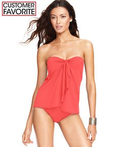 Lauren Ralph Lauren Flyaway Tummy-Control One-Piece Swimsuit - Swimwear -  Women -
