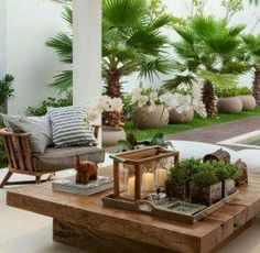 Outdoor Living Spaces and Ideas, nice outdoor wood furniture.