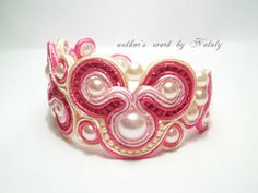 FREE SHIPPING OOAK Soutache Jewelry  Bracelet With by Lily4you, $25.00