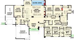 Trendy Home Plans Ranch 4 Bedrooms Pantries Ideas Office Layout Plan, Home Office Layouts, Bedroom Layouts, Ranch House Plans, Dream House Plans, House Floor Plans, Architectural Design House Plans, Architecture Design, Architectural Sketches