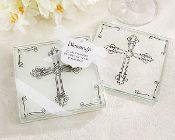 """""""Blessings"""" Glass Coasters For Baptism, Christening or Communion."""