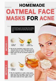 6 Top DIY Oatmeal Face Mask Recipes for Acne - - annika Homemade Oatmeal, Sugar Scrub Homemade, Homemade Facial Mask, Homemade Facials, Oatmeal Face Mask, Top Diy, Avocado Face Mask, Natural Acne Remedies, Skin Problems