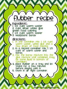 Flubber Recipe by Jaimie Knudson KINDERWORLDWAY.blogspot.com