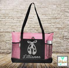Dance Bag - Personalized Glitter Print Dance Bag - Ballet Bag - Dance Shoe Bag - Danzations