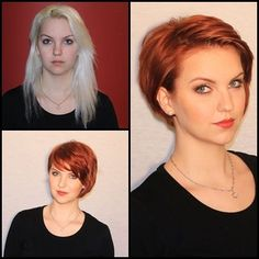 Before After Hair, Before And After Haircut, Medium Hair Cuts, Long Hair Cuts, Pixie Hairstyles, Weave Hairstyles, Trending Hairstyles, Quick Hairstyles, Brünetter Pixie
