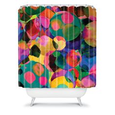 Amy Sia Rainbow Spot Shower Curtain