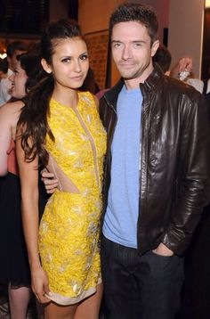 Nina Dobrev & Topher Grace. The random awesomeness of this pic...