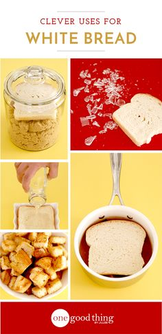 Uses for White Bread.... from degreasing soup to picking up broken glass... even clean oil paintings and photos!