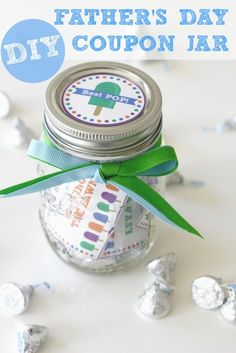 Last-minute gifts for Father's Day: Decorate your own coupon jar | Catch My Party