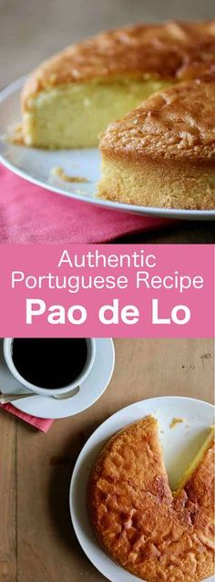famous Portuguese airy cake with multiple global and regional variations, pão de ló only contains three ingredients: egg, sugar, flour. Portuguese Sweet Bread, Portuguese Desserts, Portuguese Recipes, Portuguese Food, Yummy Treats, Delicious Desserts, Yummy Food, Gourmet Desserts, Plated Desserts